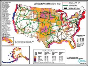 Power line US map